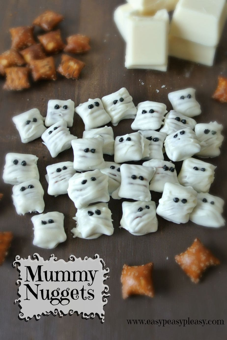 Easy 3 Ingredient Mummy Nuggets are the perfect treat for Halloween!