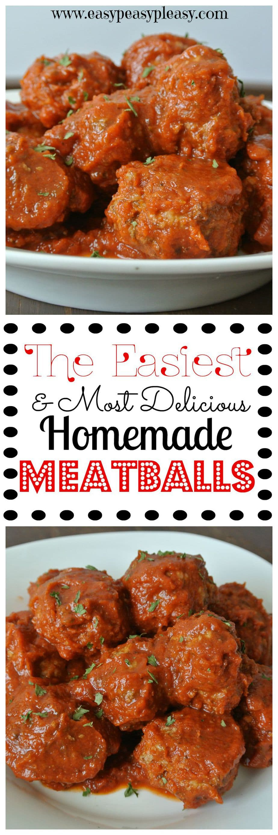 The easiest homemade meatballs that anyone can make! Did I mention...they are delicious and kid approved!