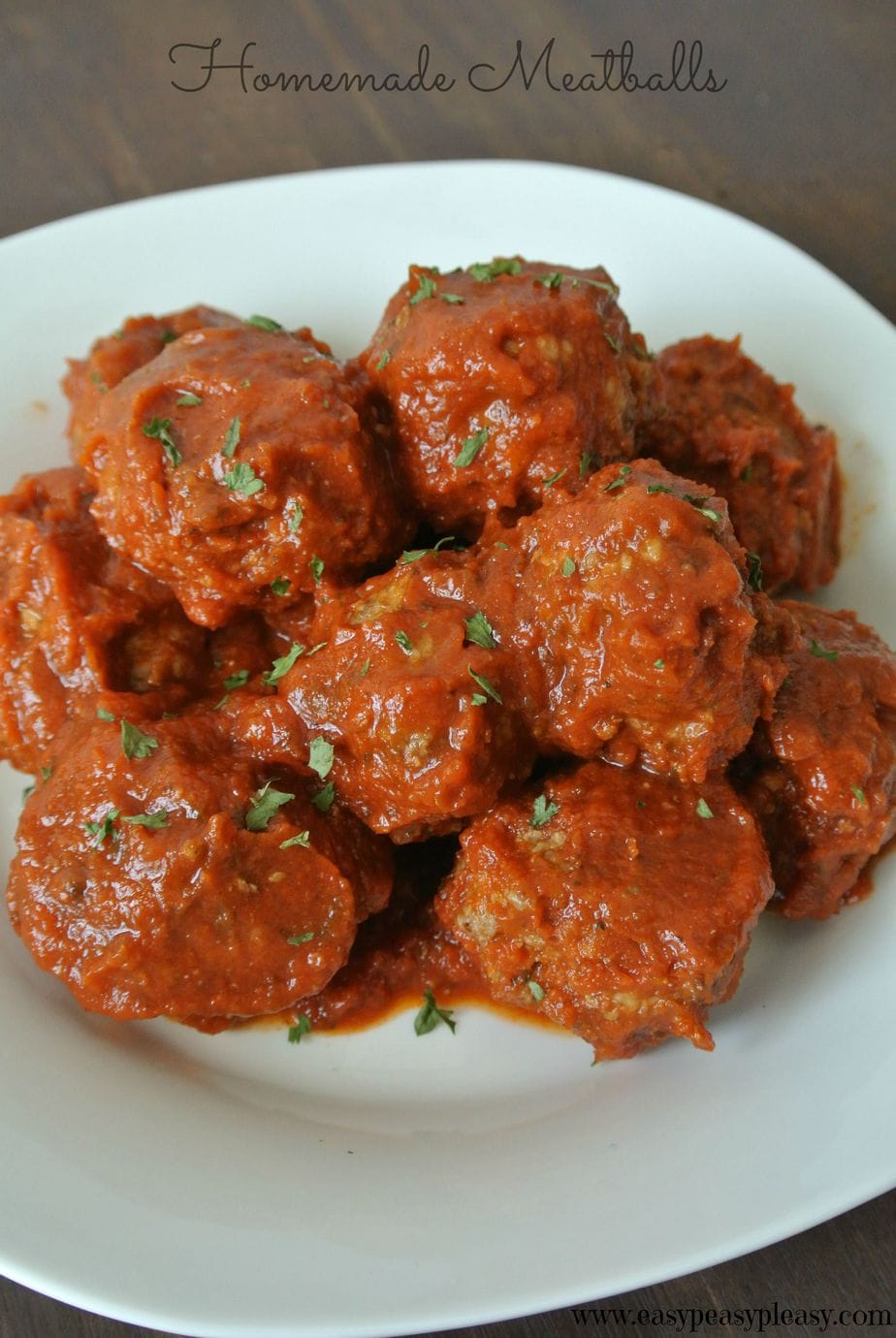 Kid Approved Easy Homemade Meatballs - Easy Peasy Pleasy