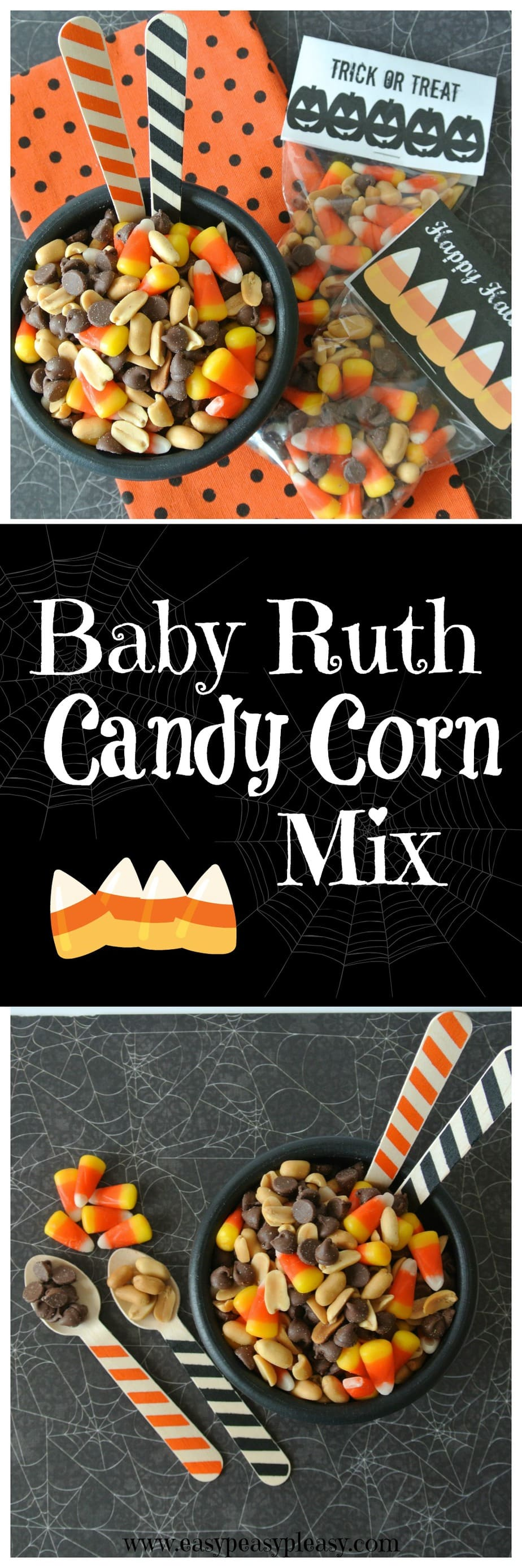 Baby Ruth Candy Corn Mix is the perfect fall snack mix! Easy and only 3 ingredients. It taste just like a Baby Ruth.