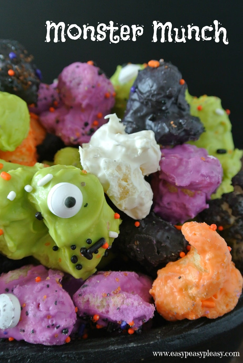 Easy 3 Ingredient Monster Munch is the perfect Halloween Treat and it's not popcorn.