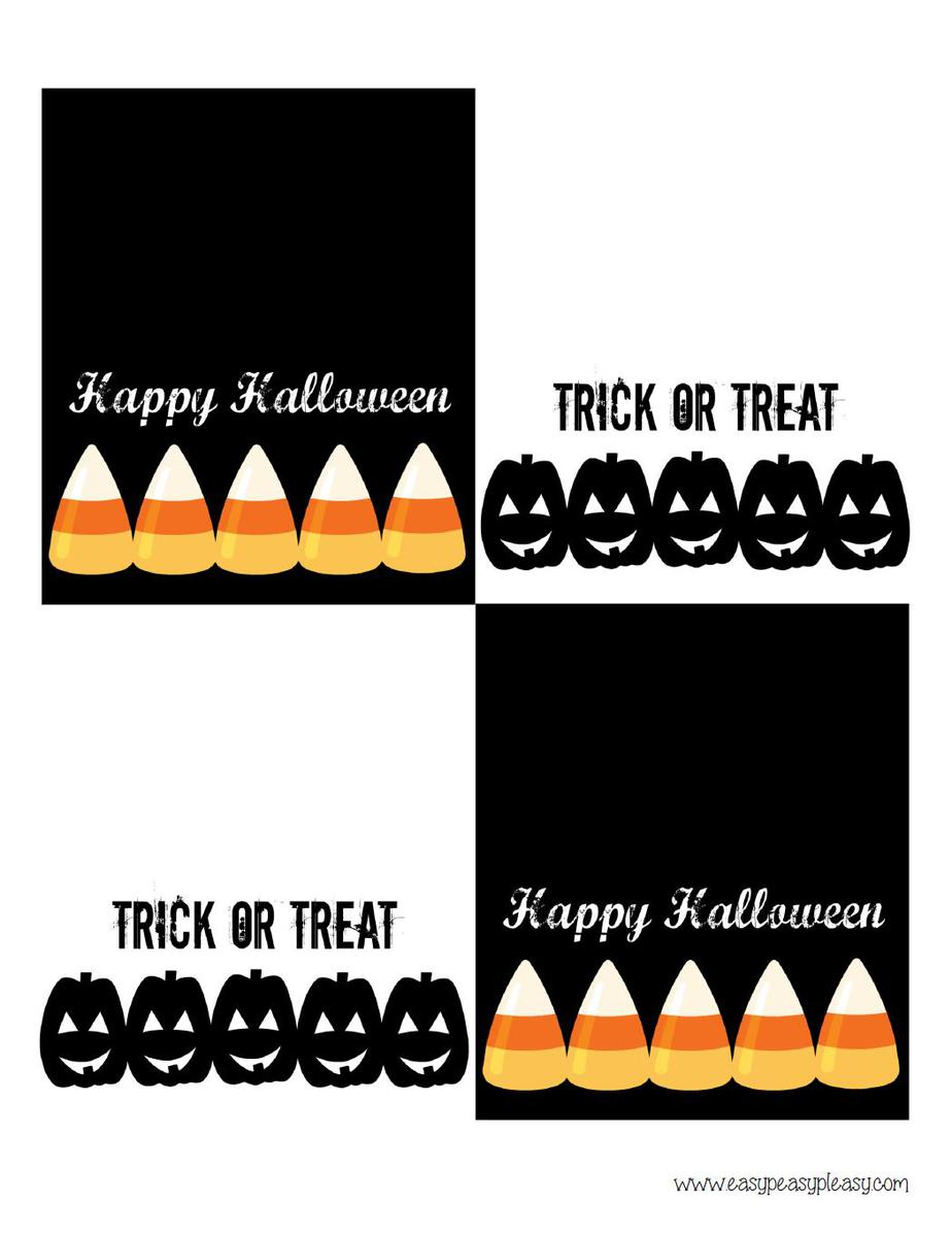 Free Halloween Treat Bag Topper Printable