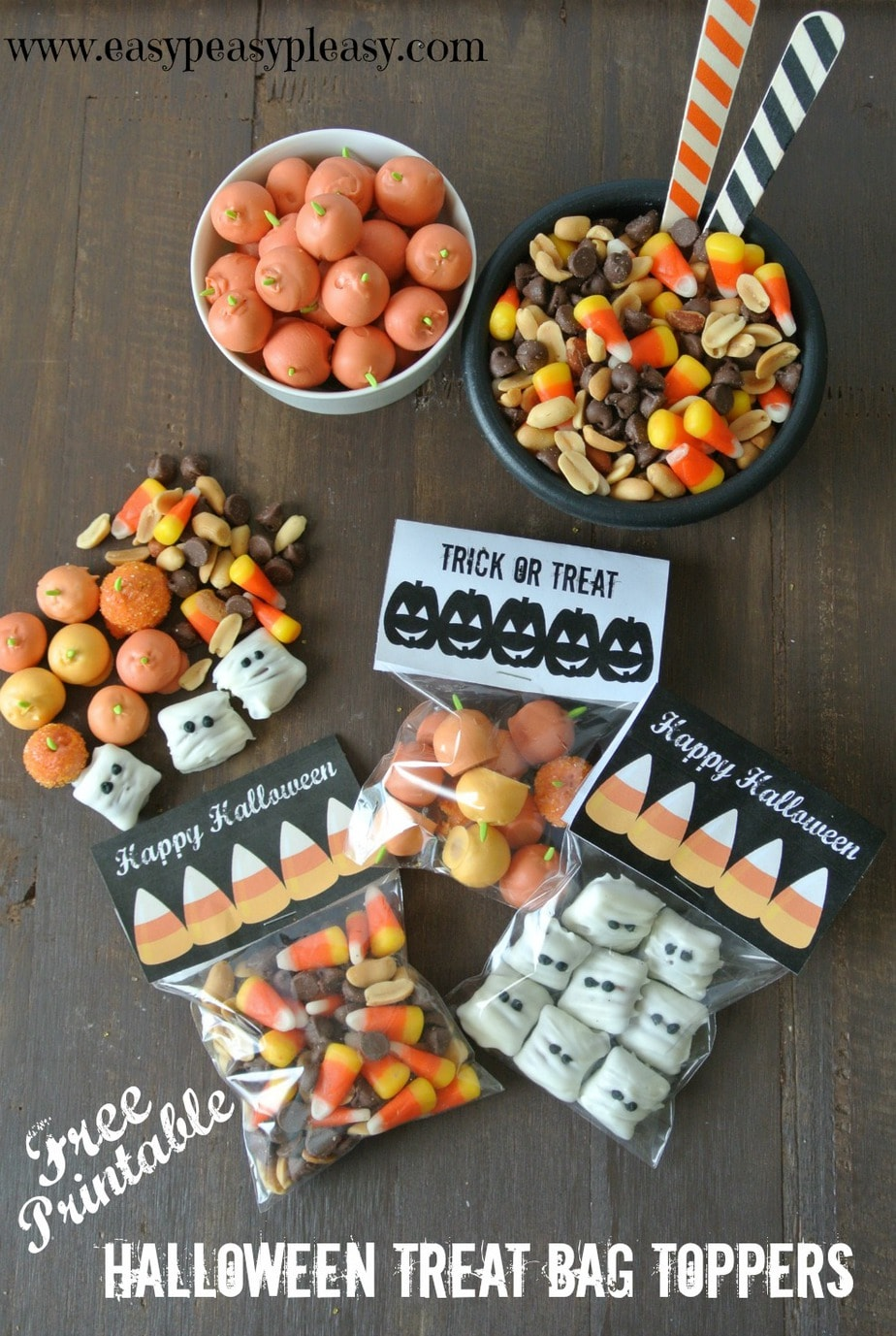 Free Printable Halloween Treat Bag Toppers are perfect for your Halloween treats!