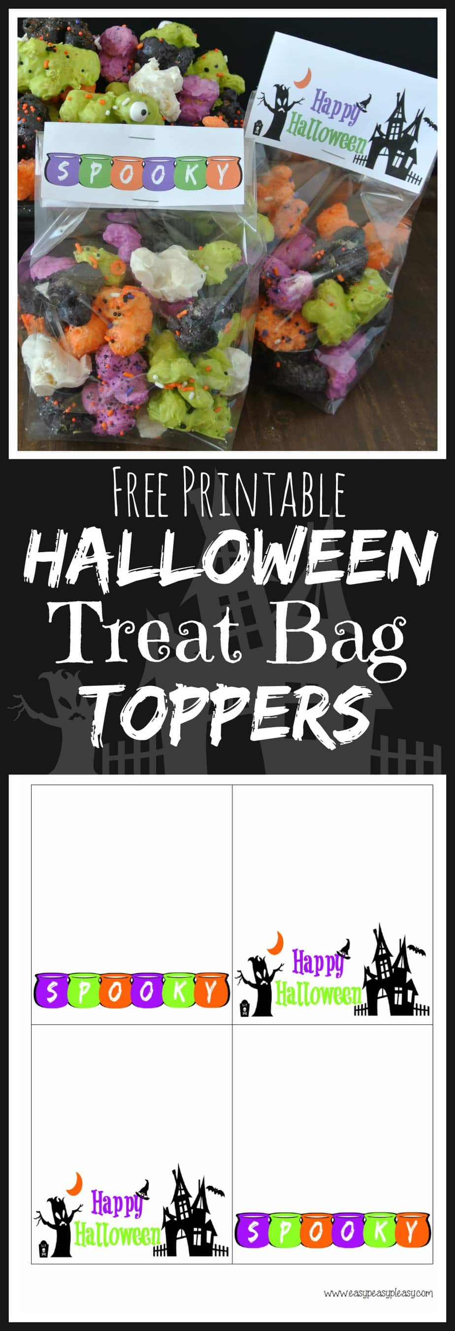 Halloween Treat Bags Printables Free Printable Treat Bag Toppers Are The Perfect