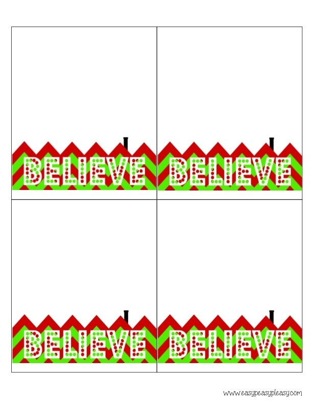 photograph relating to Christmas Bag Toppers Free Printable referred to as 3 Totally free Printable Xmas Address Bag Toppers - Simple Peasy Pleasy