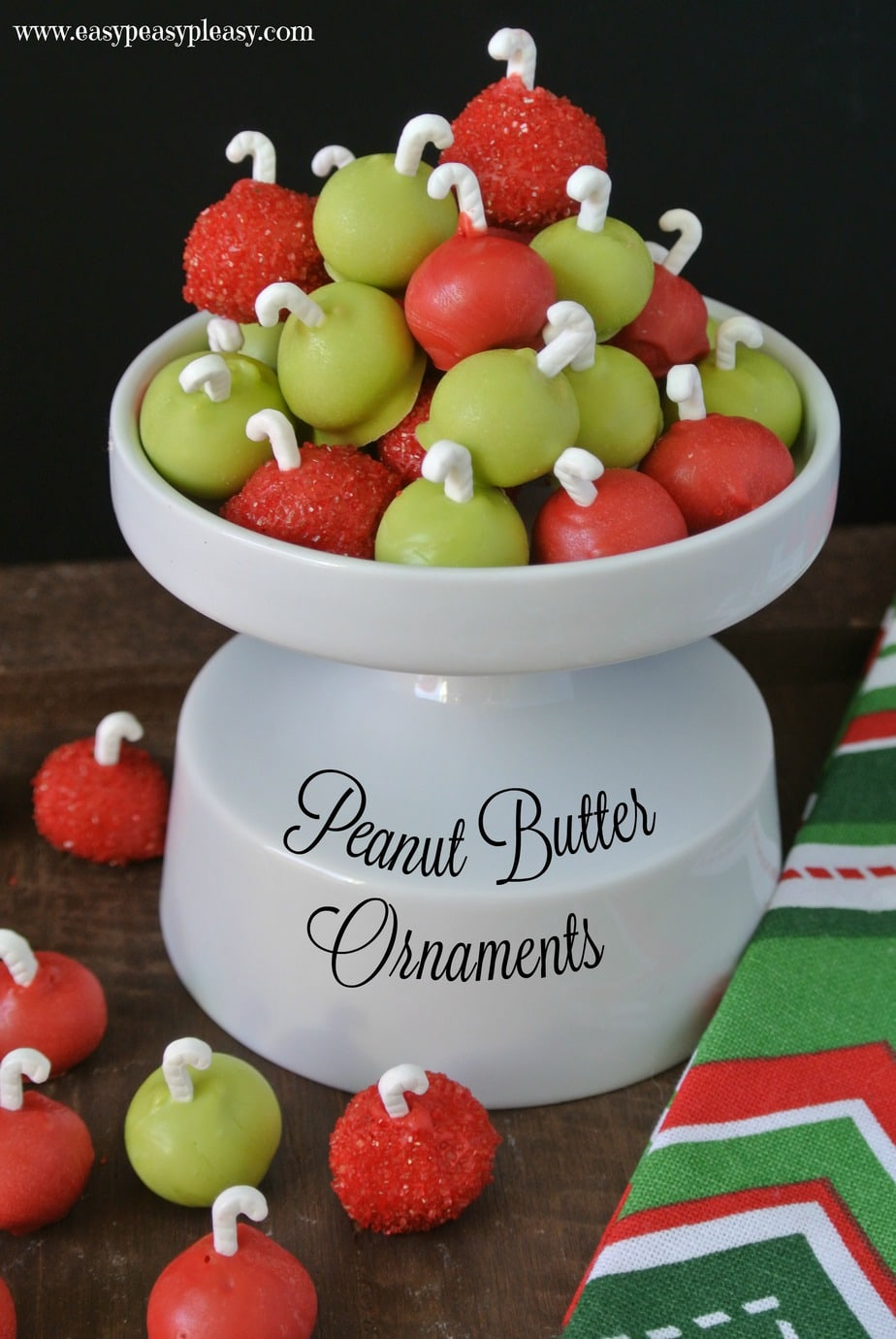 Snack archives easy peasy pleasy easy 3 ingredient peanut butter ornaments are the perfect christmas treat solutioingenieria Image collections