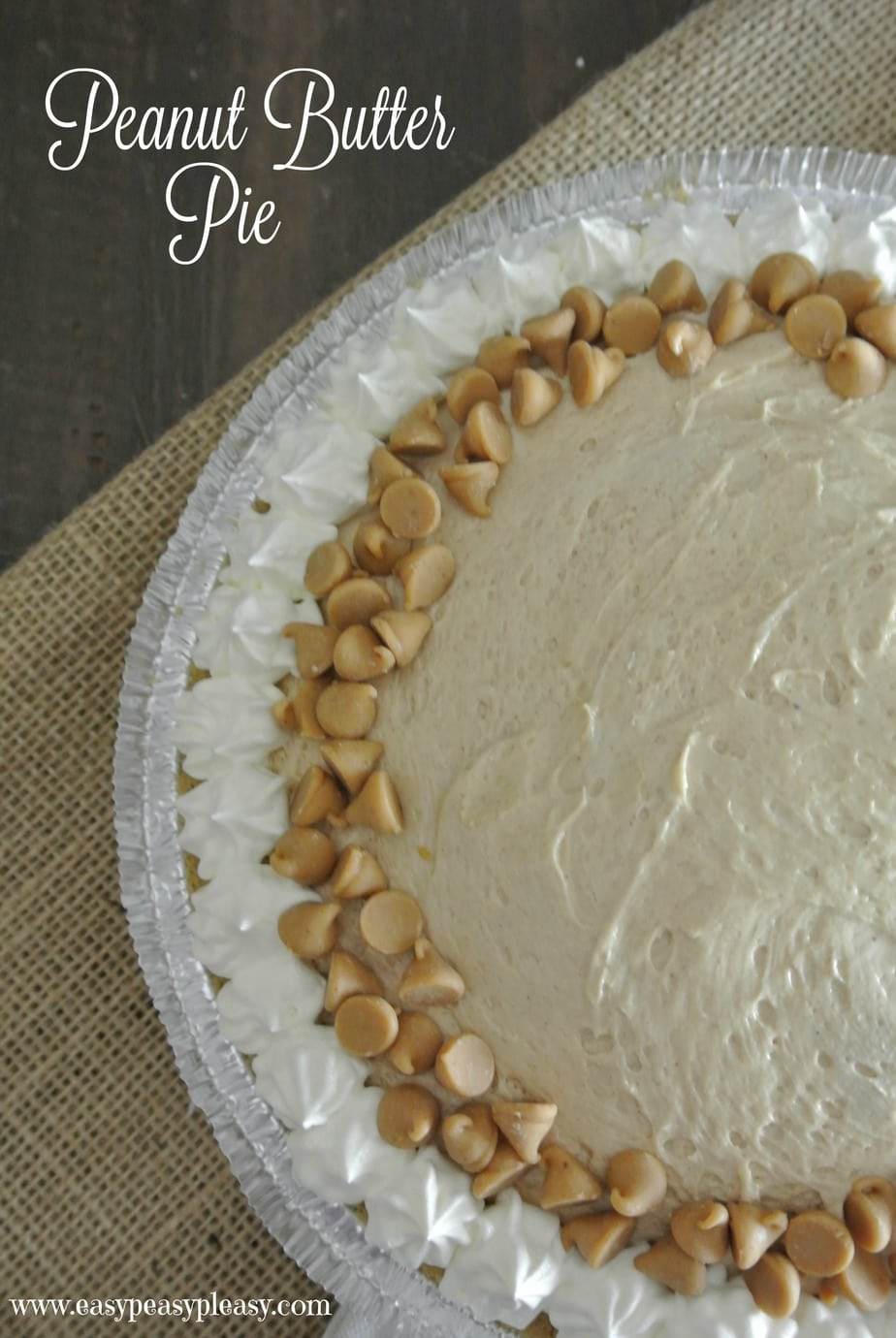Easy make ahead Peanut Butter Pie!