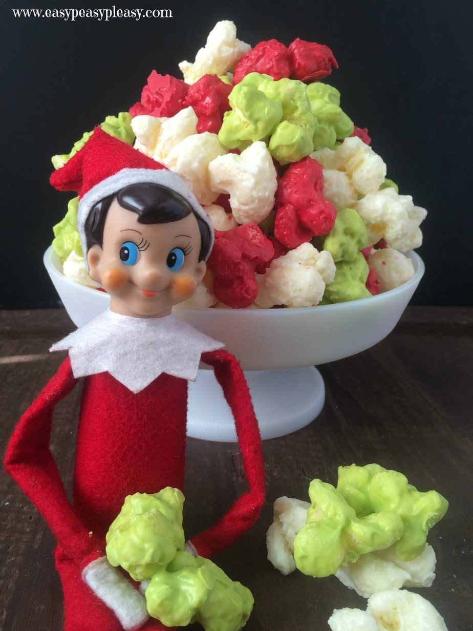 Elf Munch is the perfect treat for your Elf to leave the whole family. It's only 2 Ingredients and takes 5 minutes to whip up. No popcorn here.
