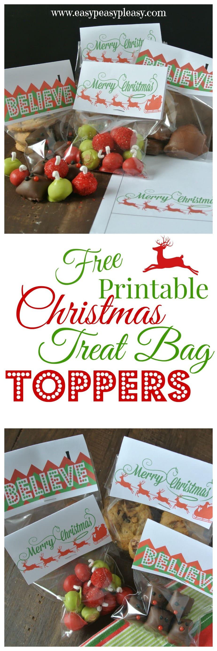Free printable christmas treat bag toppers easy peasy