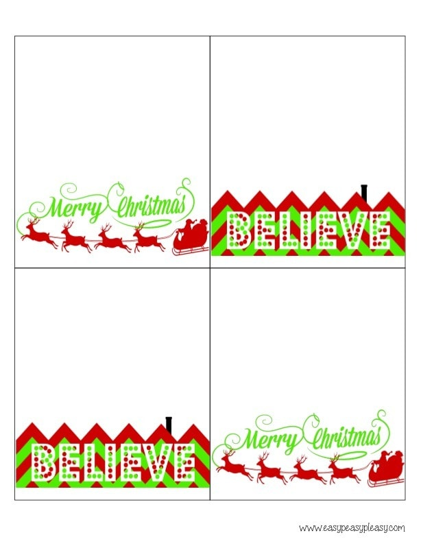 photograph regarding Christmas Bag Toppers Free Printable titled 3 Cost-free Printable Xmas Take care of Bag Toppers - Simple Peasy Pleasy