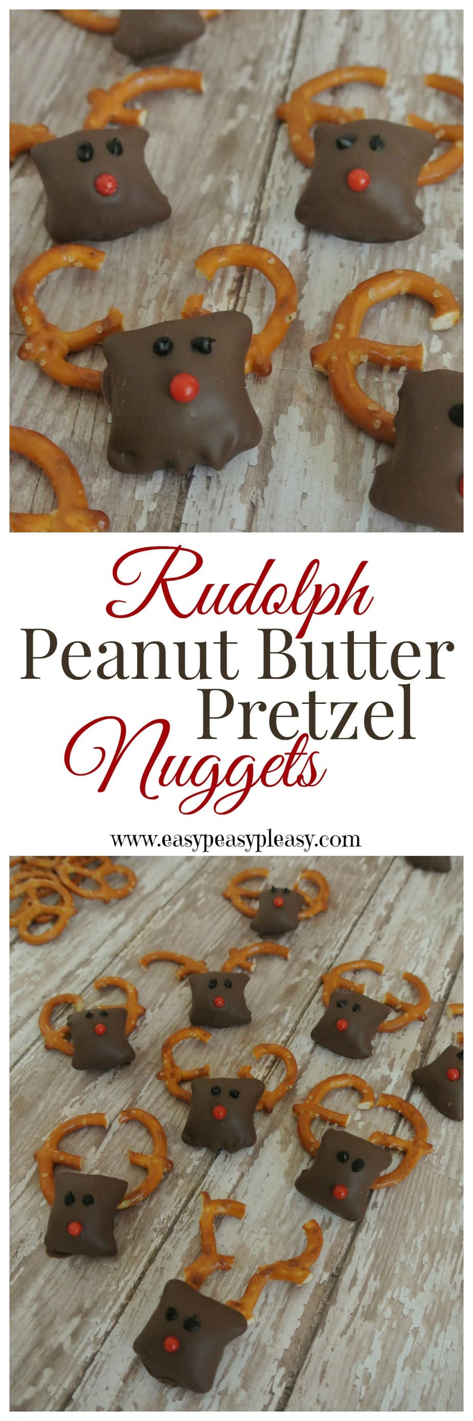 These 4 Ingredient Rudolph treats are easy and the perfect Christmas sweet!