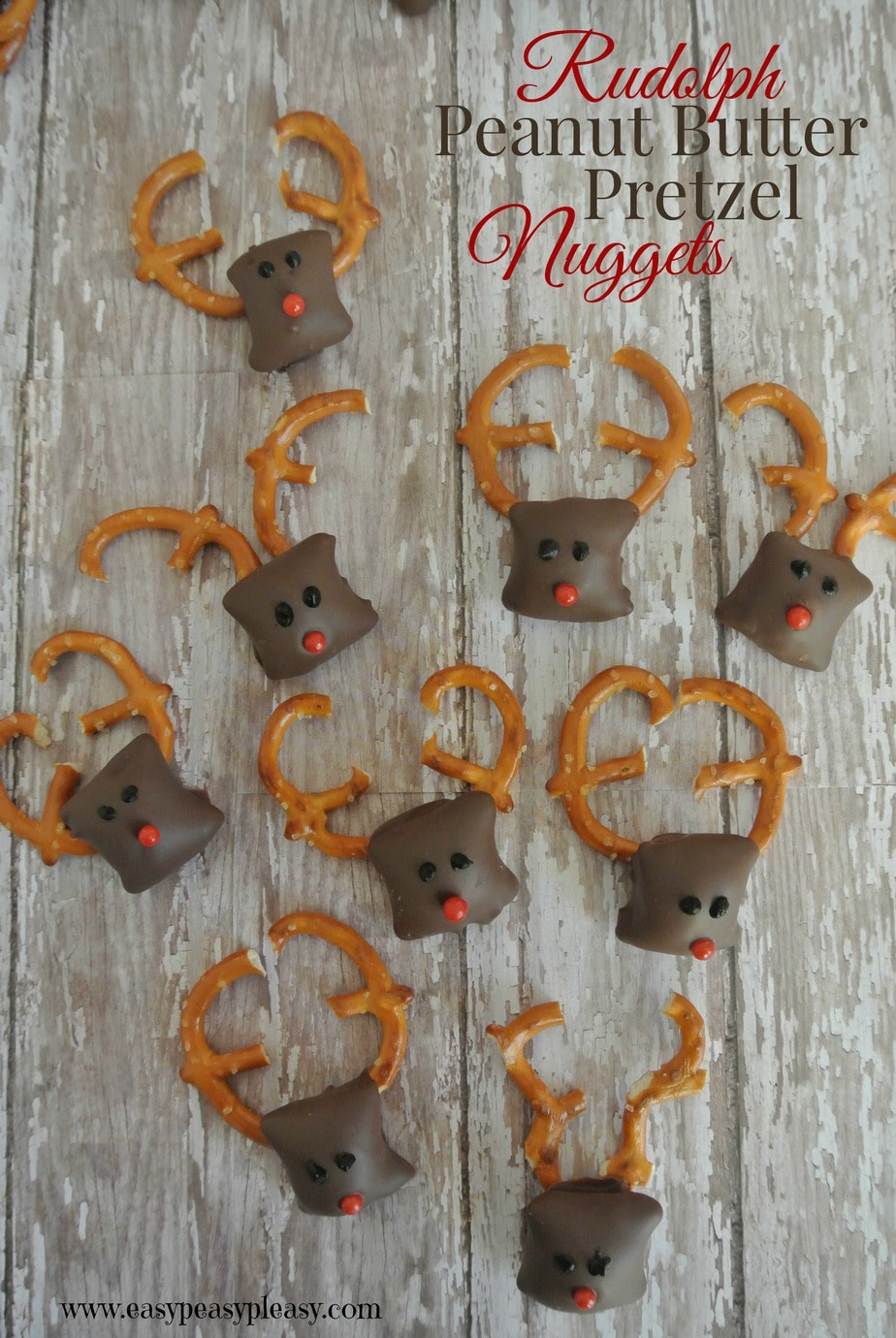 These adorable Rudolph Treats are easy to make and the perfect addition to Christmas!