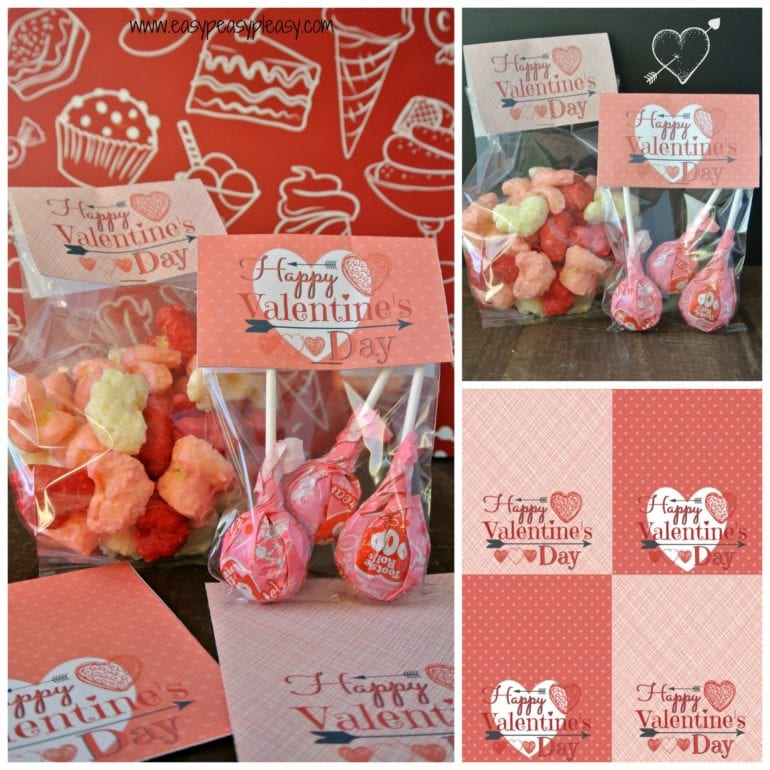 Free Printable Valentine Treat Bag Toppers are a perfect addition to any party favor bag.