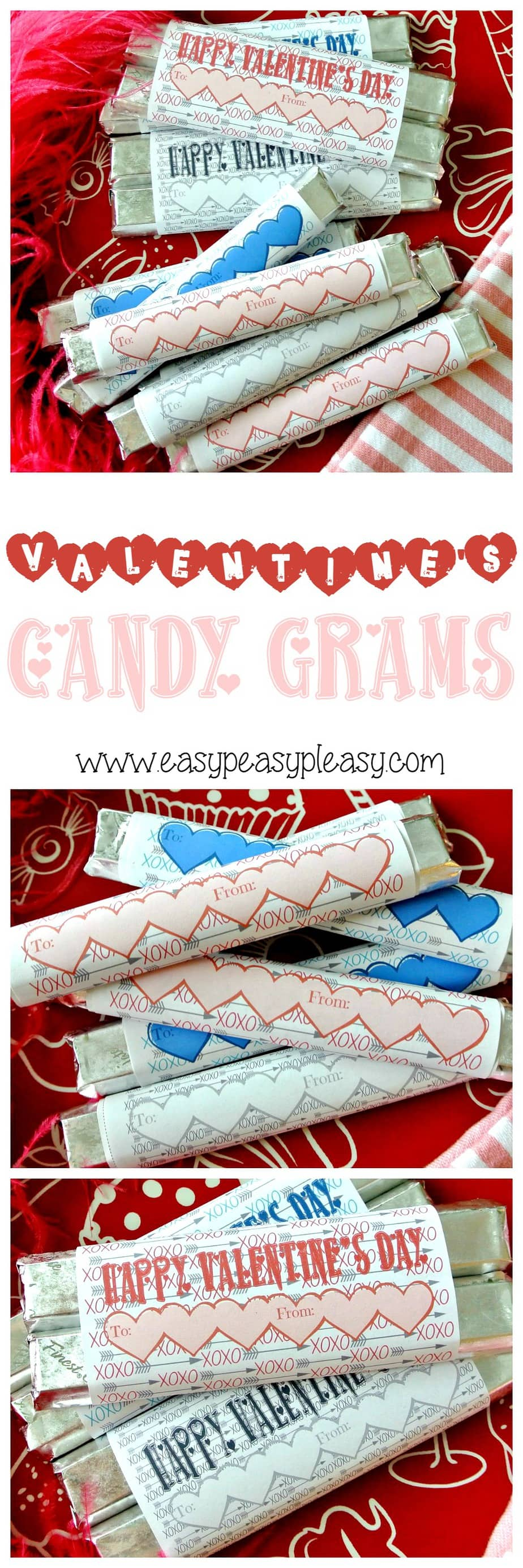 Free Printable Valentine's Day Candy Grams