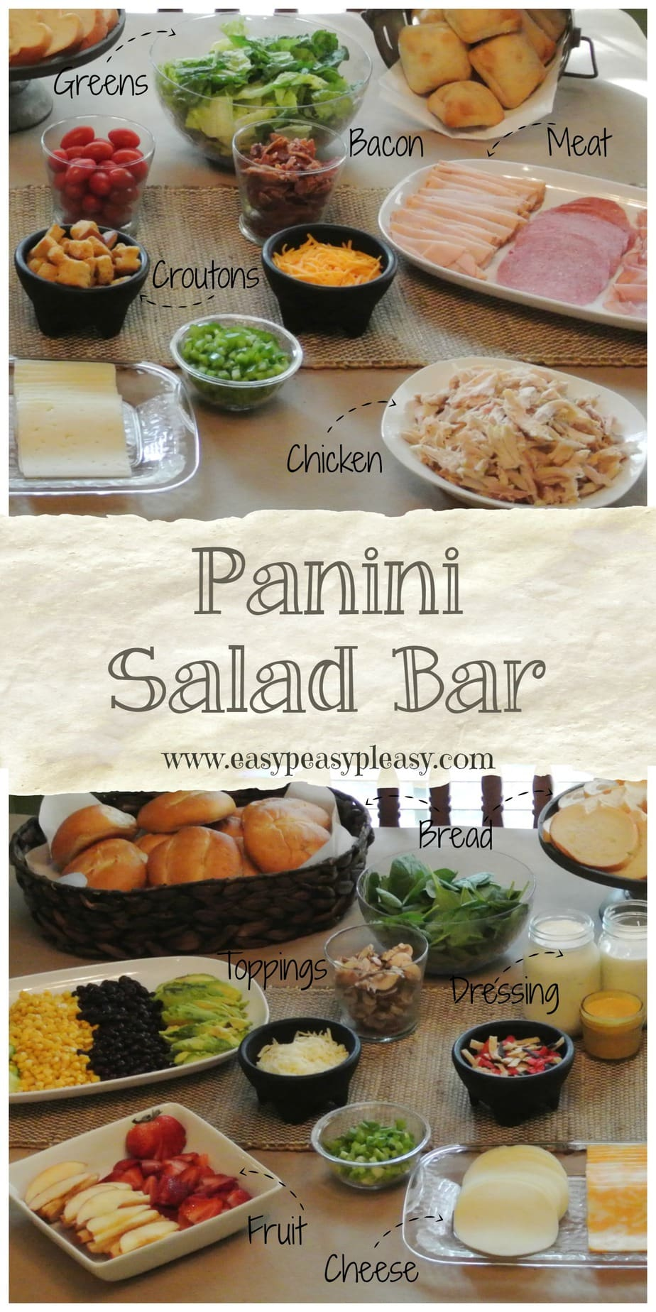 Party Food Made Easy! Throw a party and make a Panini Salad Bar!