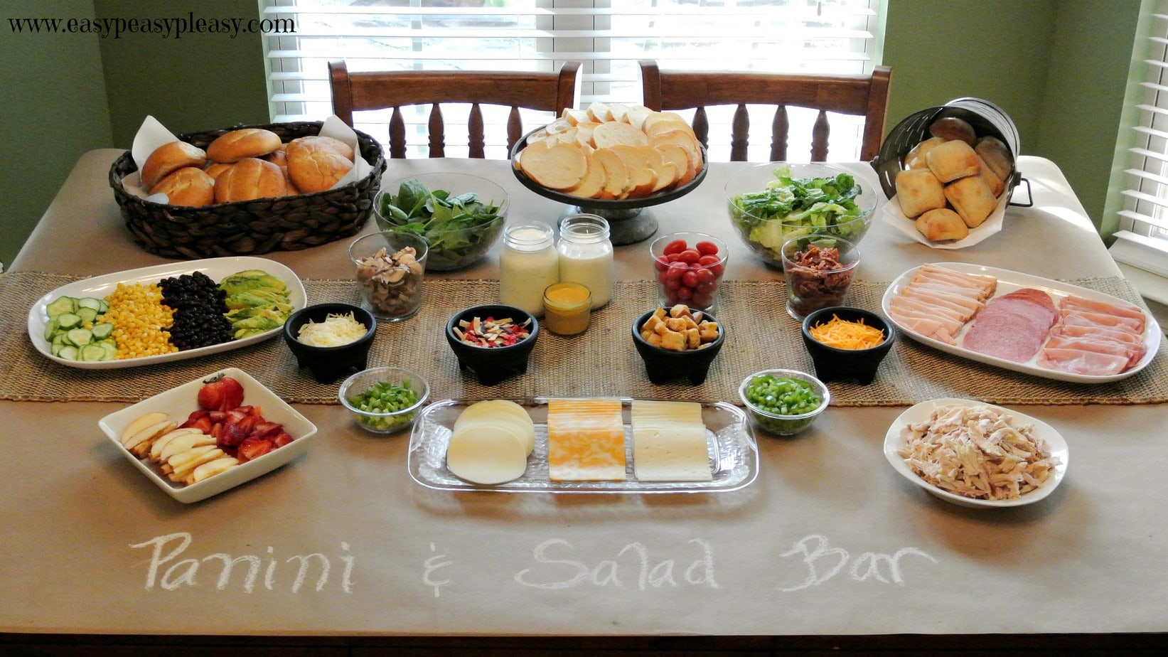 Panini salad bar party food made easy easy peasy pleasy for Food bar ideas for a party
