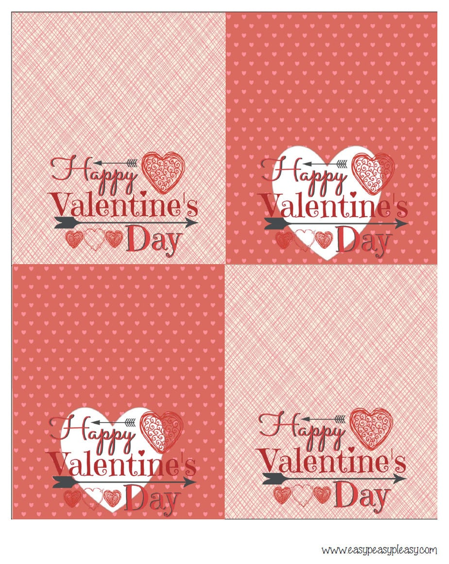 Valentine's Day Treat Bag Printable Topper