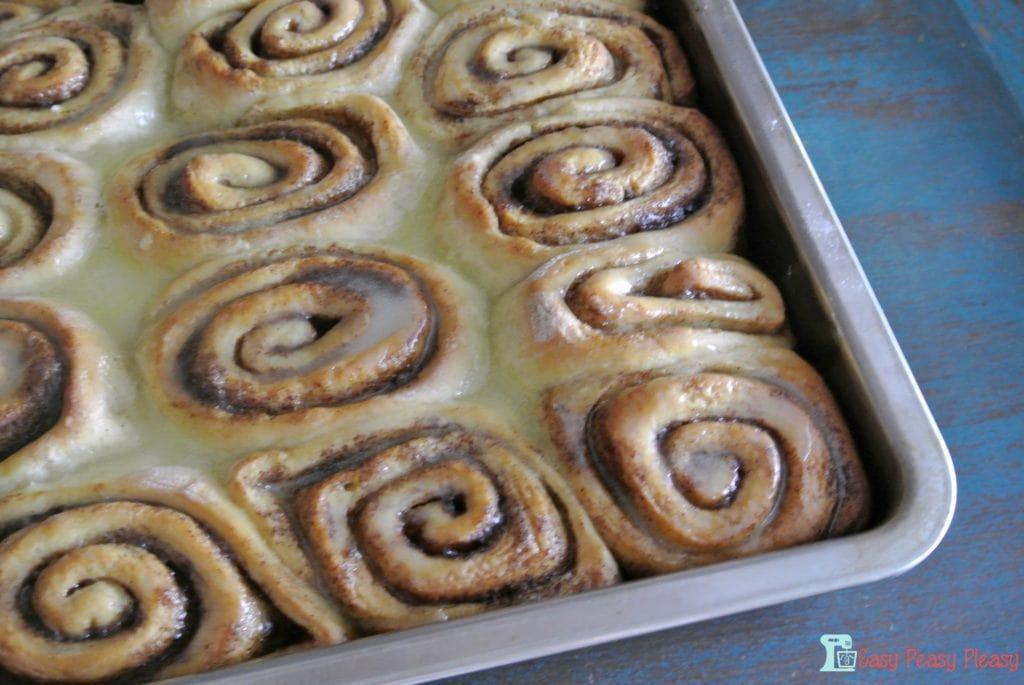 Baked cinnamon rolls!