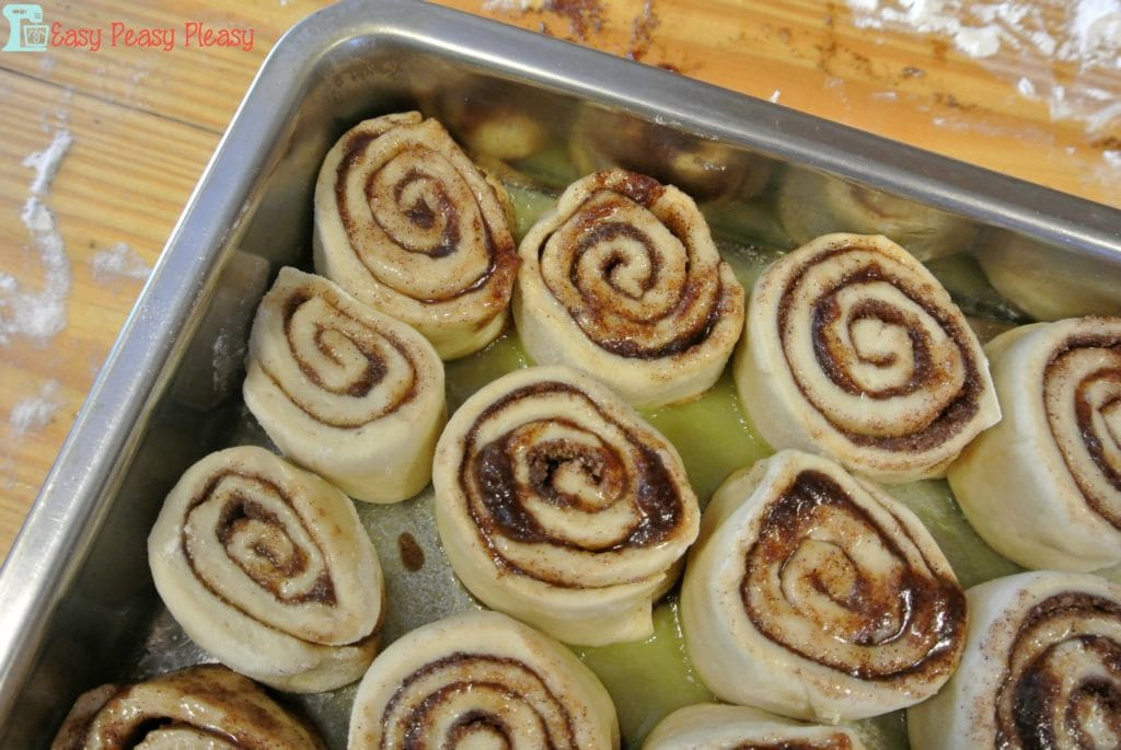 Cinnamon rolls before rising