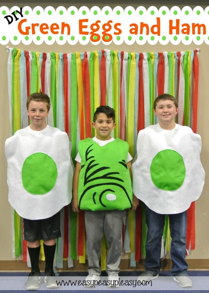 Easy to follow DIY Dr. Seuss Green Eggs and Ham Costume tutorials!