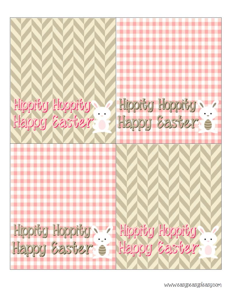 Free Printable Easter Treat Bag Topper
