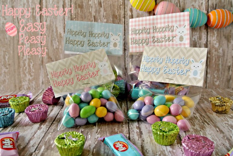 Free Printable Easter Treat Bag Topper at easypeasypleasy.com