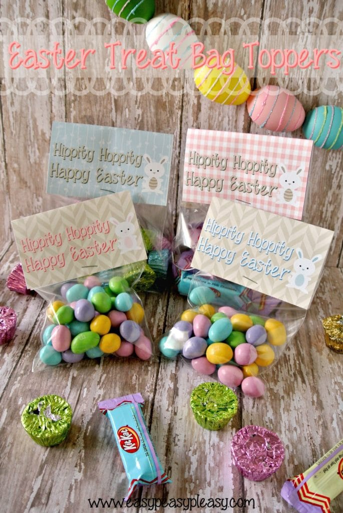 Free Printable Easter Treat Bag Toppers add the easiest finishing touch to your Easter baskets!