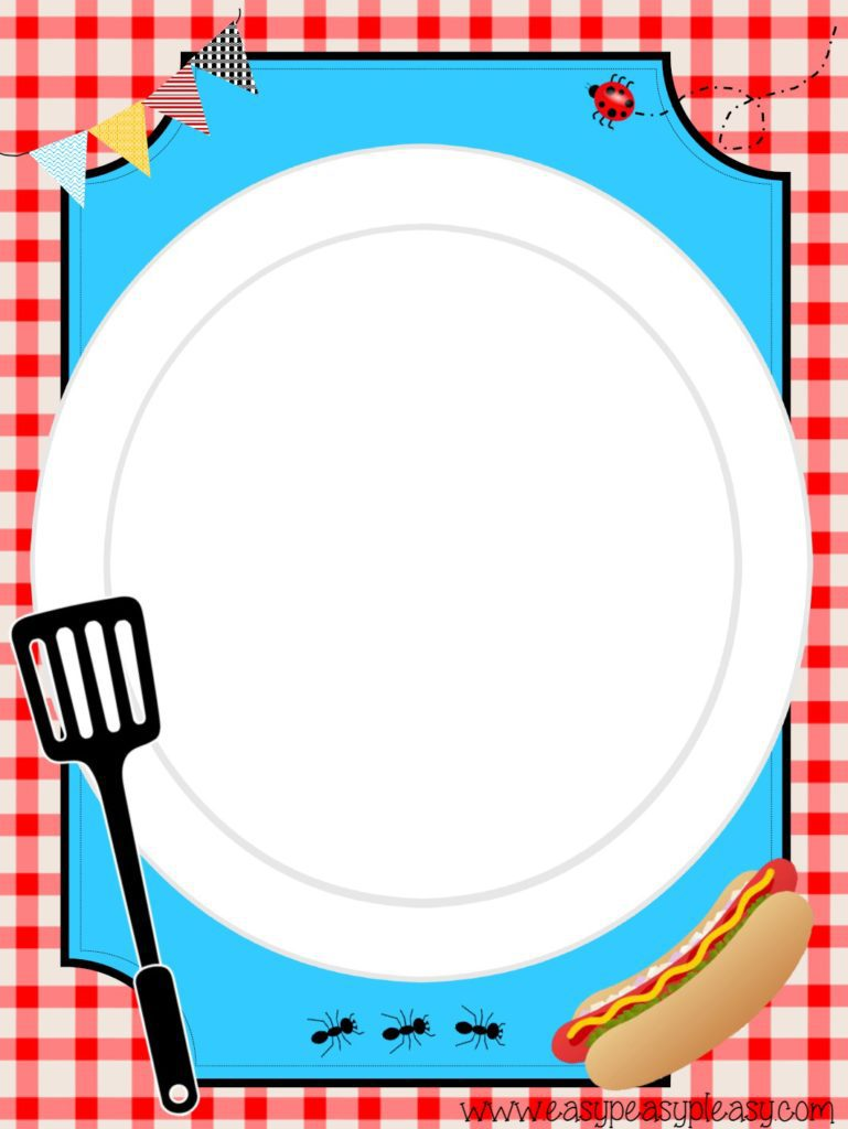 Free printable picnic or BBQ Flyer you can customize with instructions!