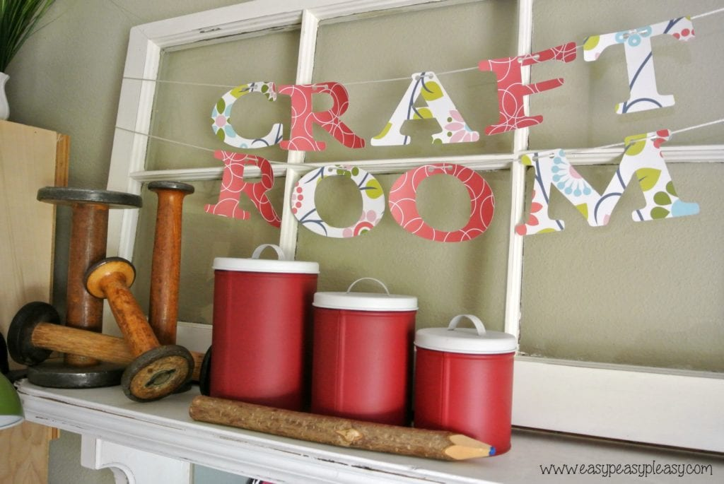 How to organize a room with free printable to help you know where everything is stored!