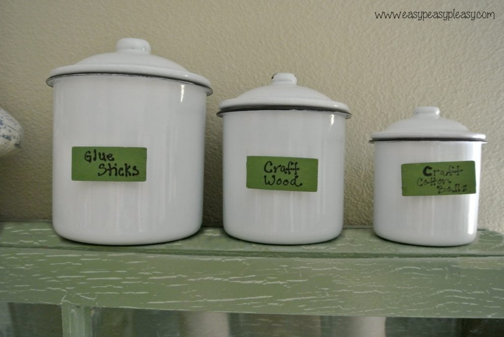 Labels for craft containers.