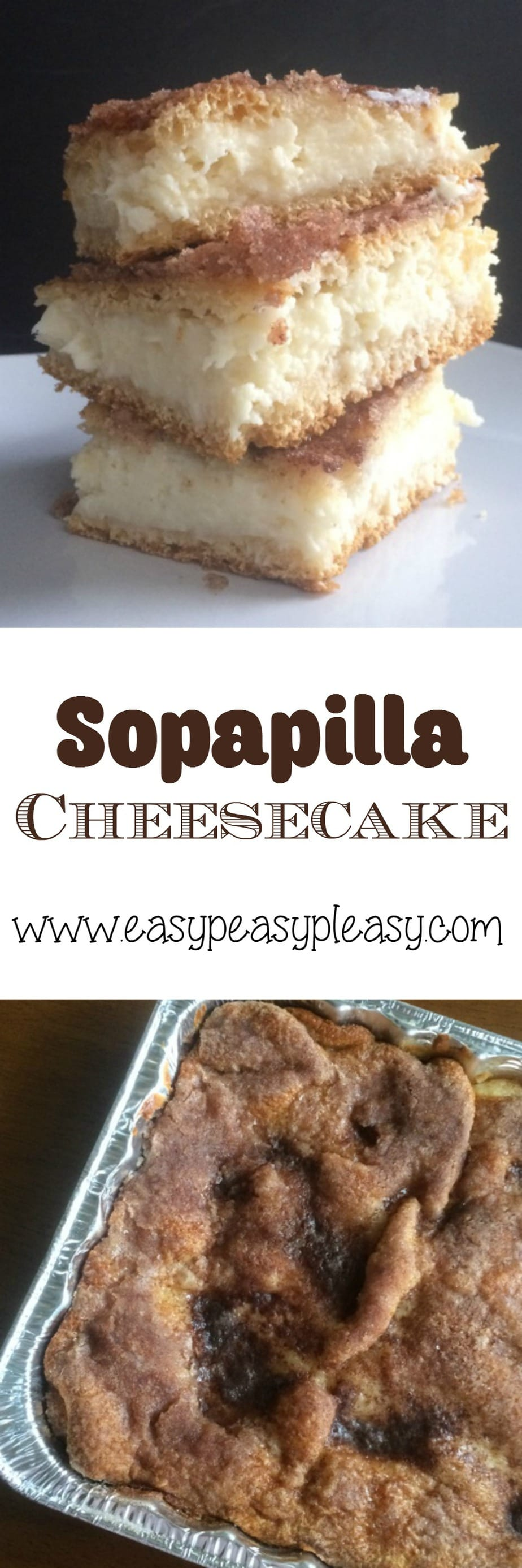 Sopapilla Cheesecake is an easy dish to take to a potluck!