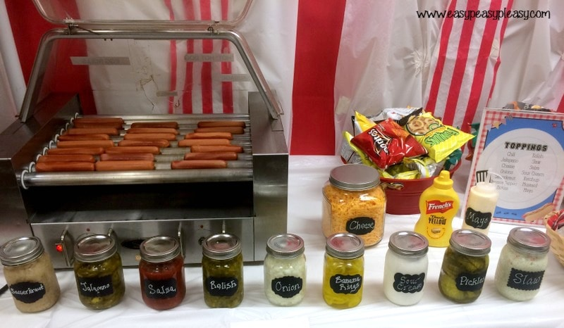 Teacher Appreciation Lunch Ideas Hot Dog Bar Toppings!