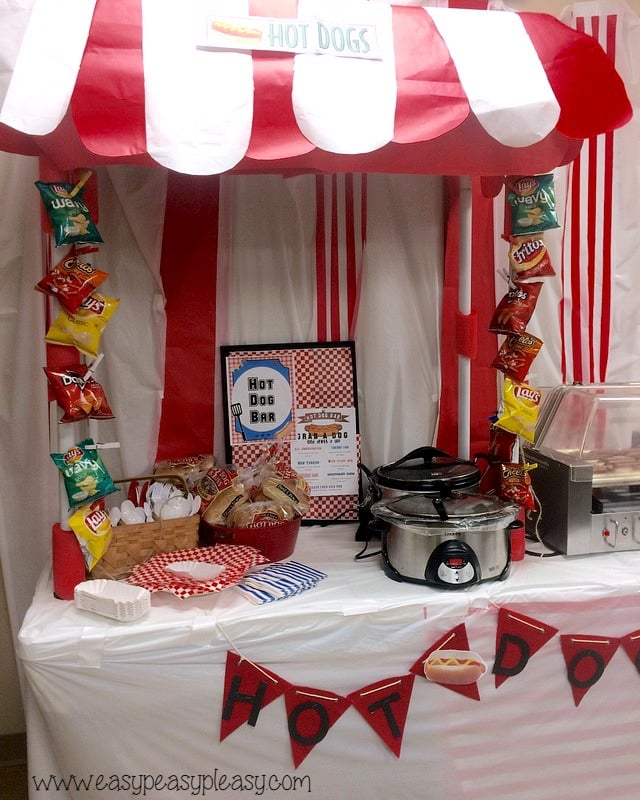 Teacher Luncheon Hot Dog Bar