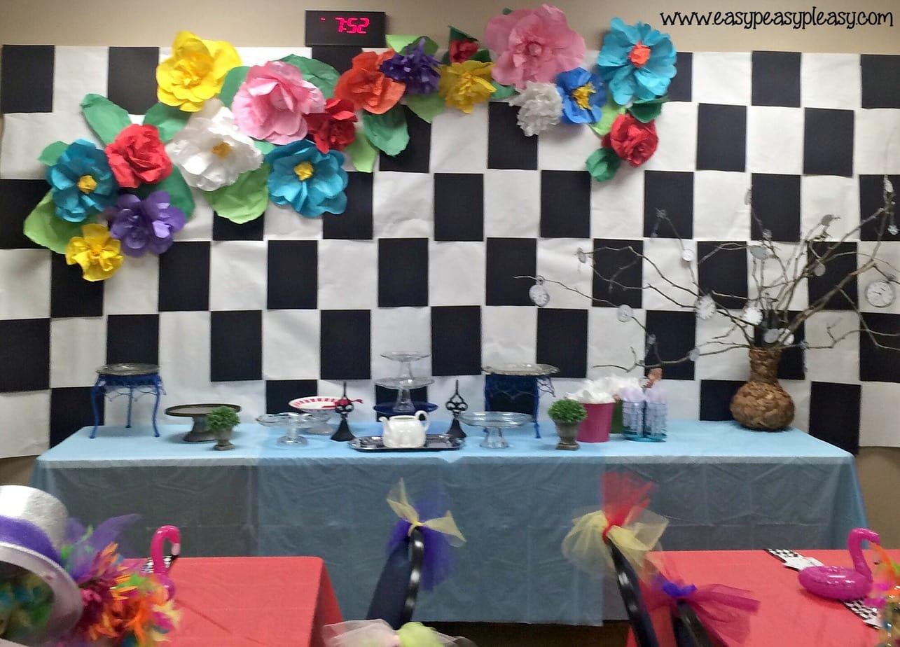 Alice in Wonderland Mad Hatter Tea Party Teacher Appreciation Week theme!