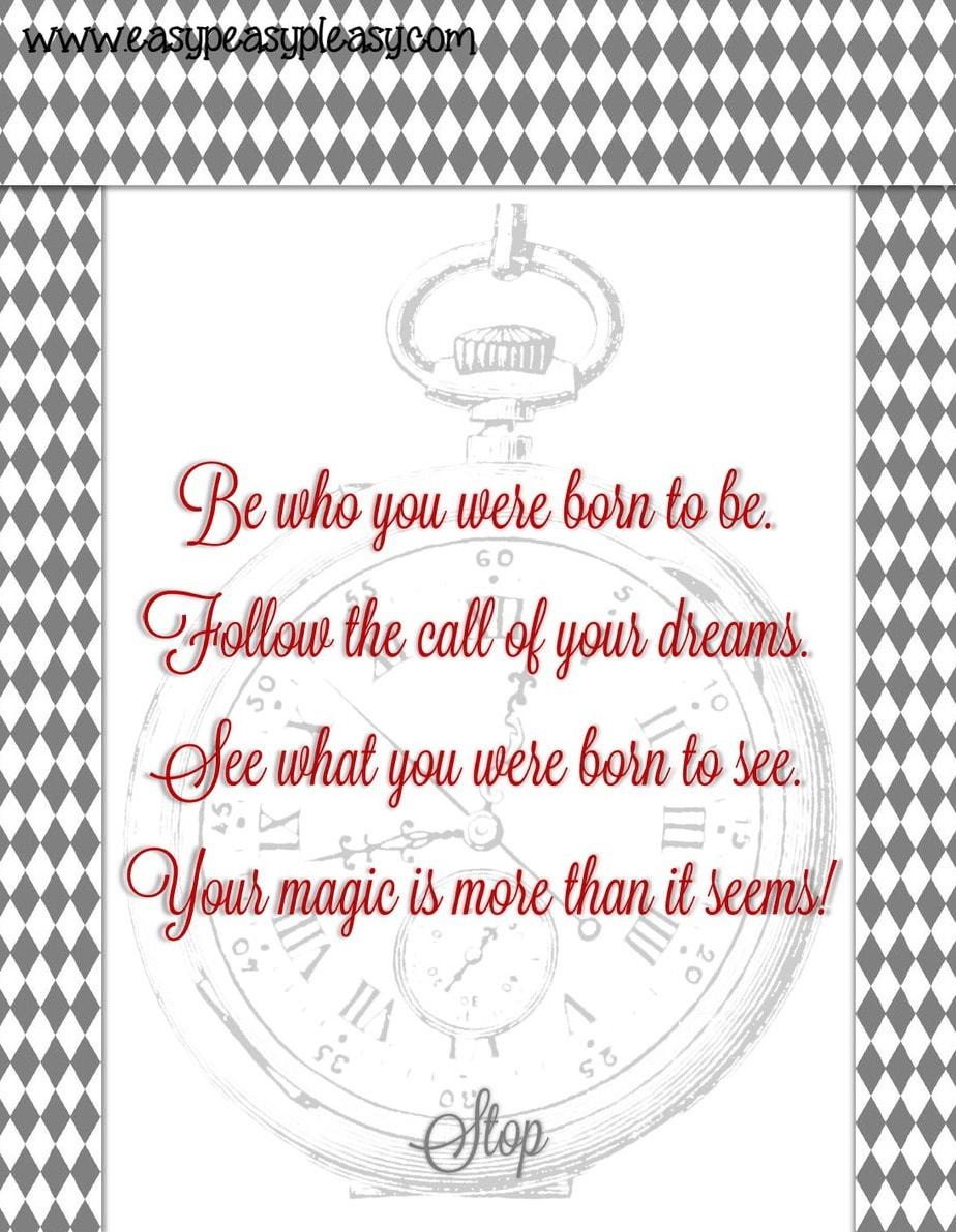 Alice in Wonderland Quote Teacher Appreciation Week!