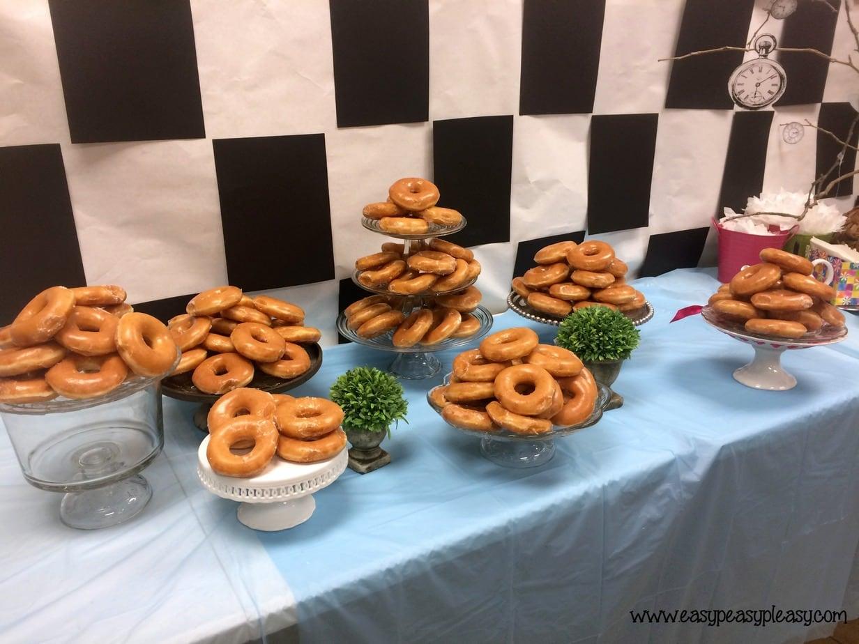 Alice in Wonderland Teacher Appreciation Donut Breakfast!