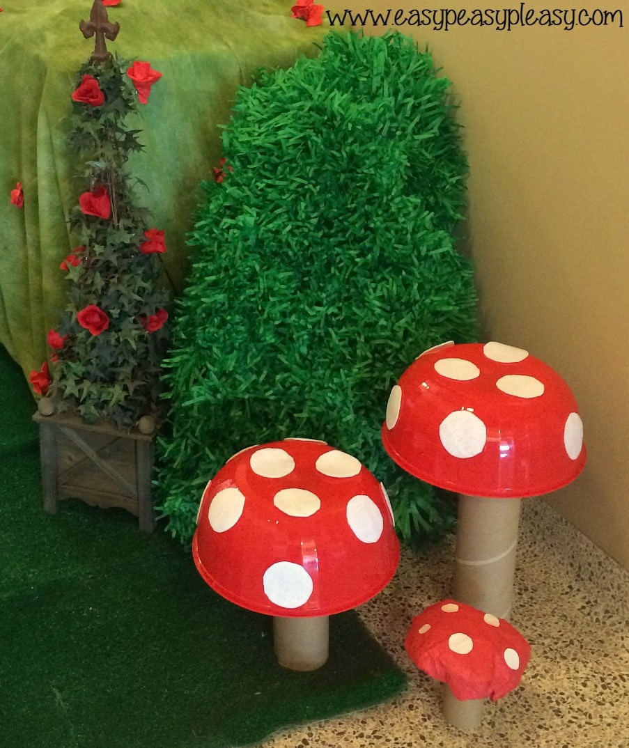 Alice in Wonderland Teacher Appreciation Week DIY Mushrooms!