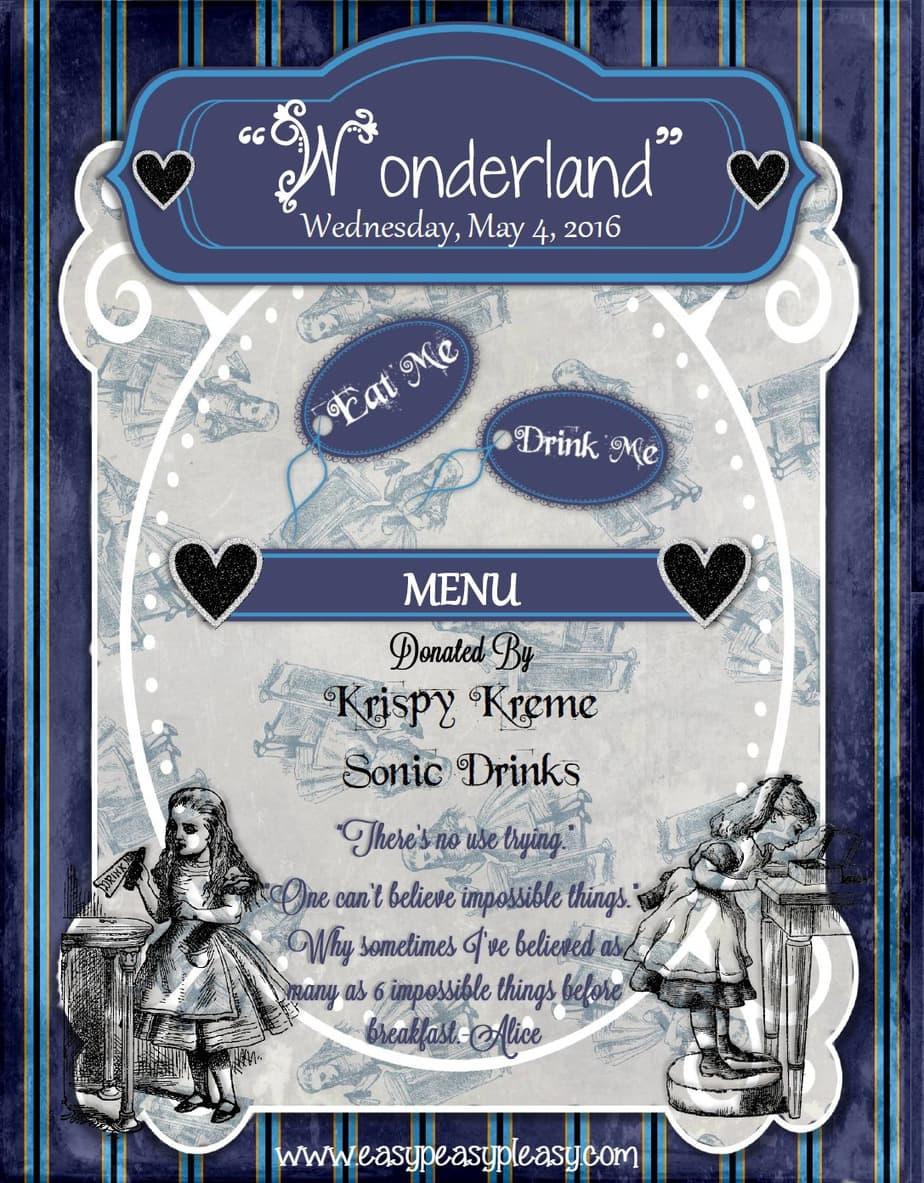 Alice in Wonderland Teacher Appreciation Week Eat Me and Drink Me Labels