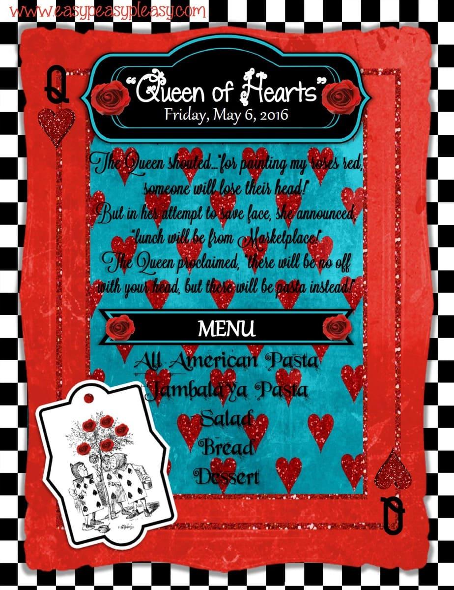 Alice in Wonderland Teacher Appreciation Week Queen of Hearts!