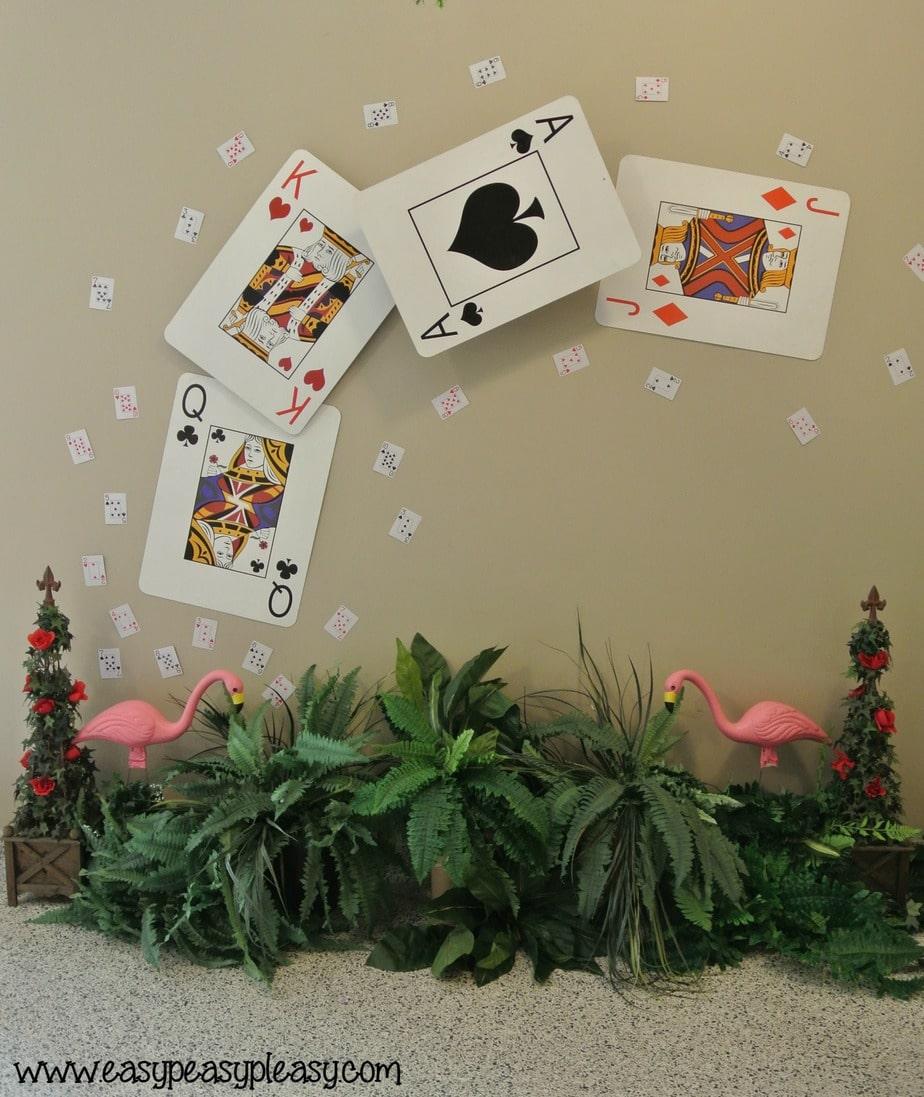 Alice in Wonderland Teacher Appreciation Week playing cards.