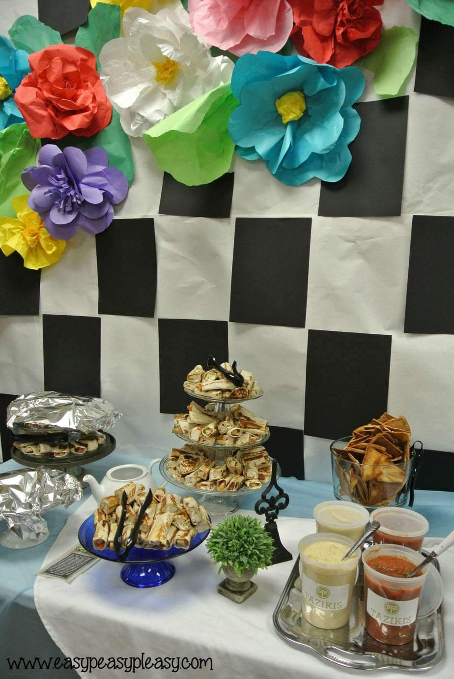 Alice in Wonderland Teacher Appreciation catered by Tazikis