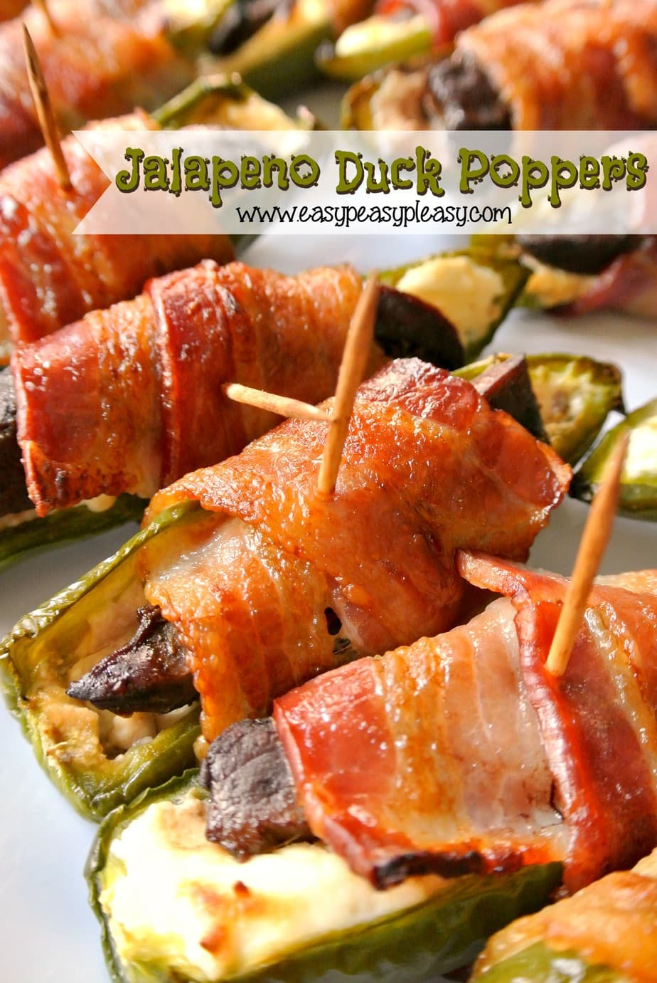 Don't tell my husband but I'm giving away his secret ingredient that makes these Jalapeno Duck Poppers so delicious!