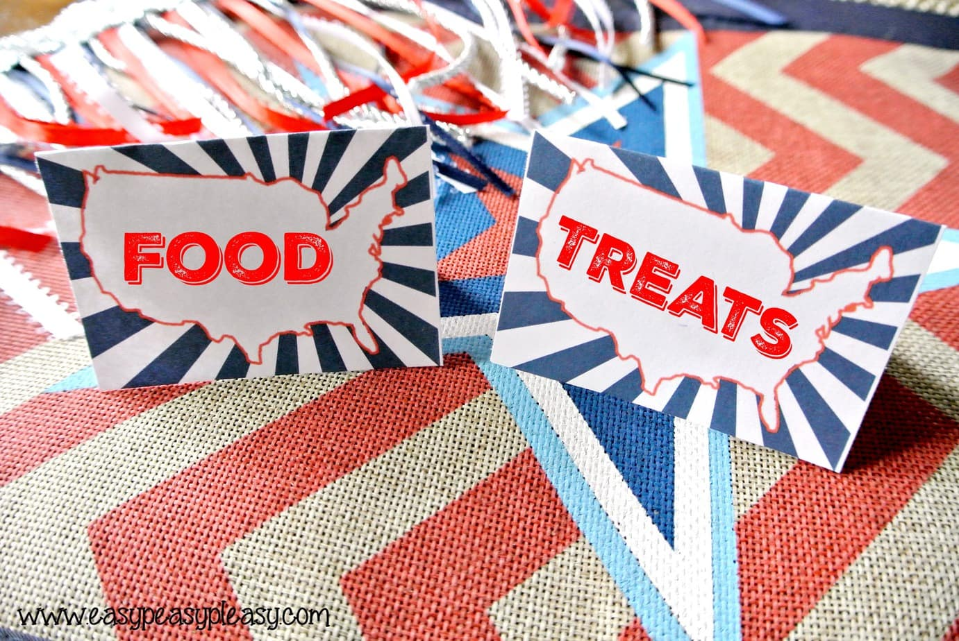 Free Printable Patriotic Pack USA Food and Treat Labels