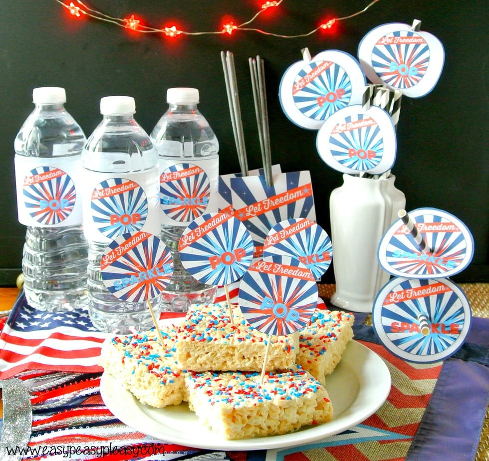Patriotic Party printables! Print it all or just what you need!