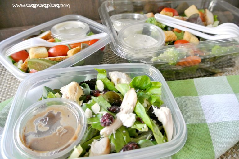 From salad, to container, to cooler, to trash. Easy To Go Salads are the perfect addition to your cooler with no cleanup.