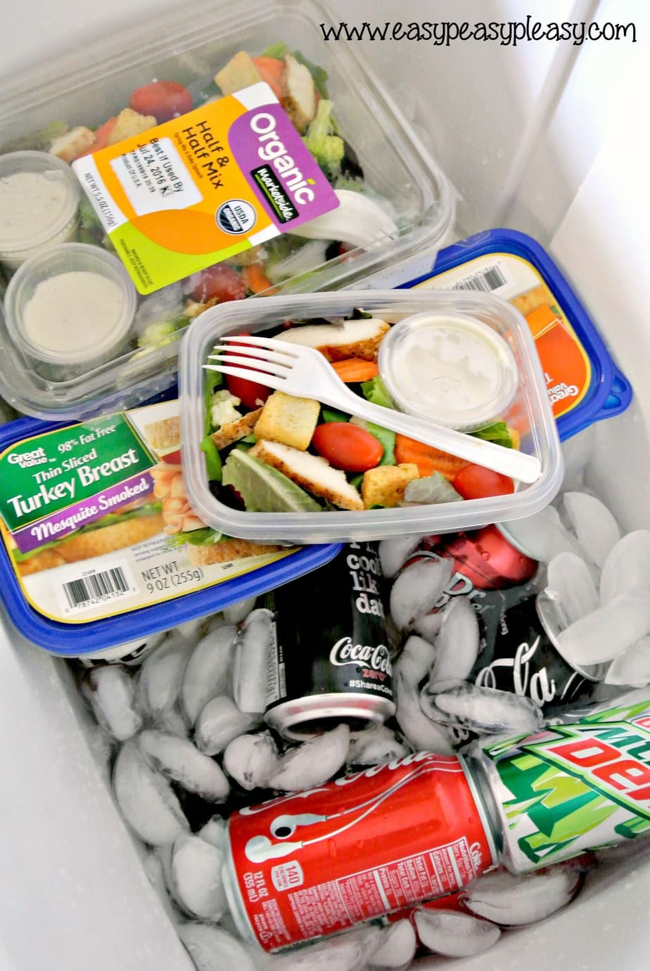 To Go Salads with no cleanup are the perfect addition to your cooler when hanging on the beach, on the boat, at the ballpark, camping, and tailgating!