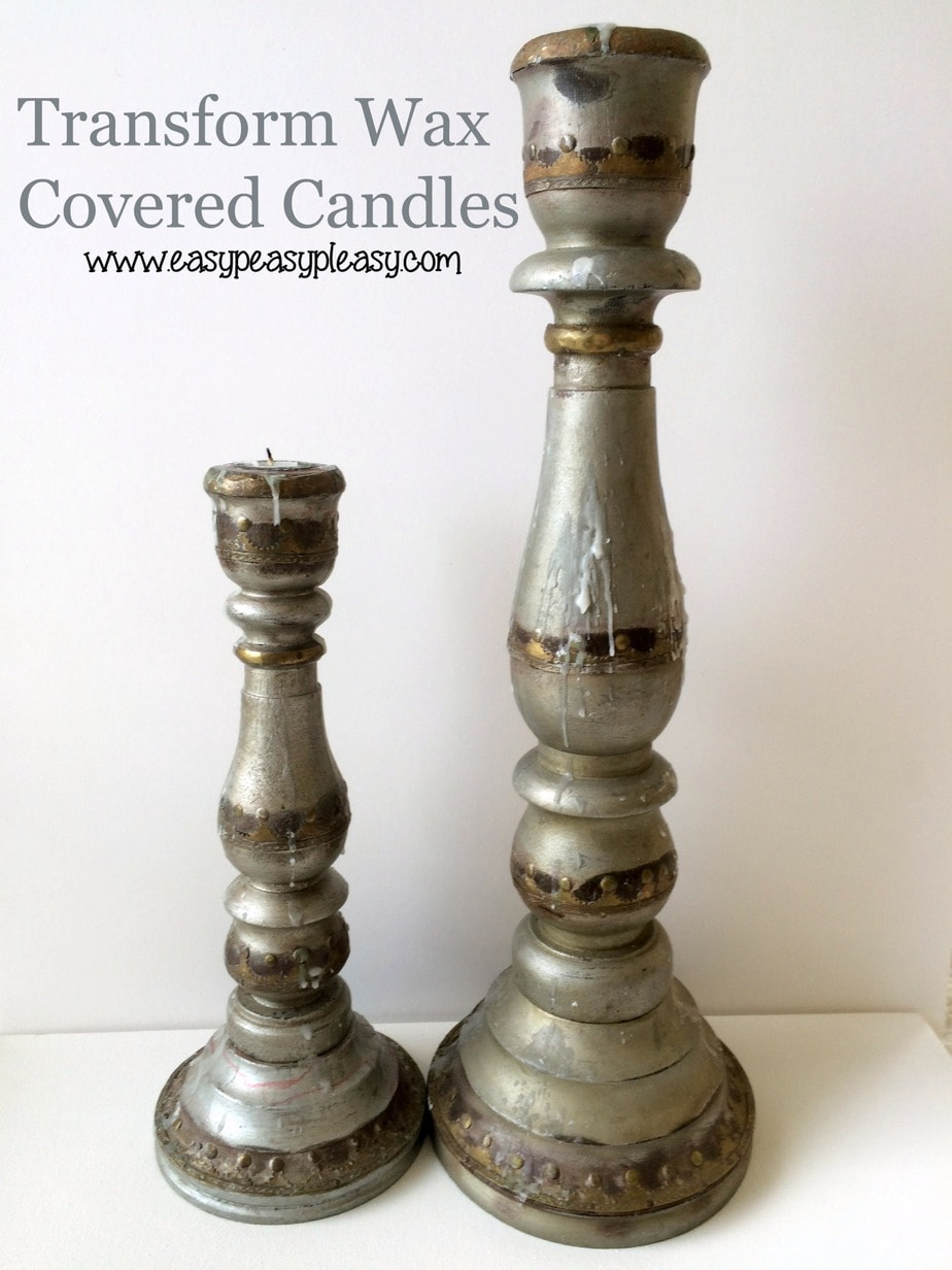 How to transform yard sale candles and remove wax easily.