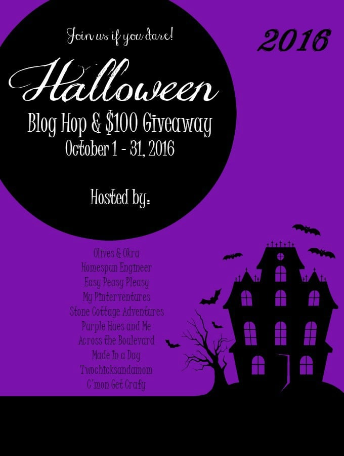 Halloween Blog Hop 2016 and Giveaway at easypeasypleasy.com