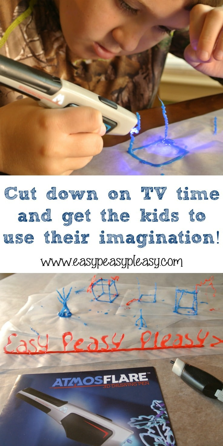 (ad) When the homework's done it's time for fun. Check out this really cool way to get the kids to use their imagination using the AtmosFlare 3D Pen.