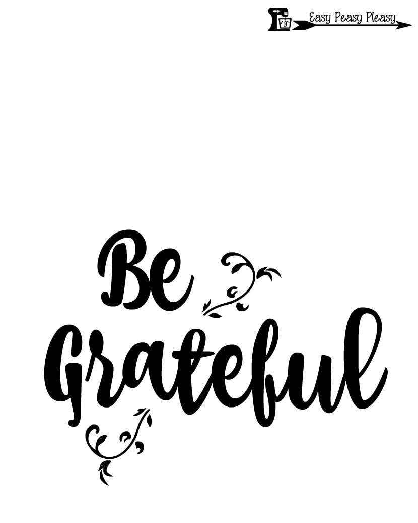Be Grateful 8x10 free Thanksgiving Printable